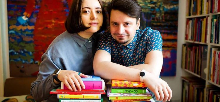 Засновники творчої дизайн-студії «Аґрафка» Романа Романишин та Андрій Лесів